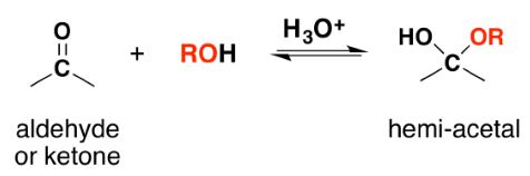 Nucleophilic Addition Reaction with Alcohols