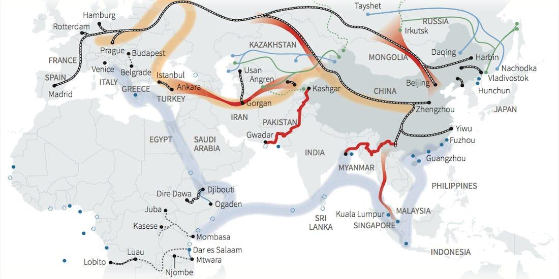 One Belt One Road - The route - UPSC 2020