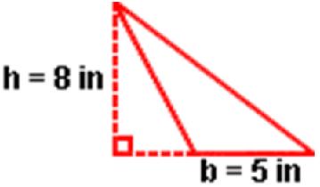 Area of Obtuse Triangle