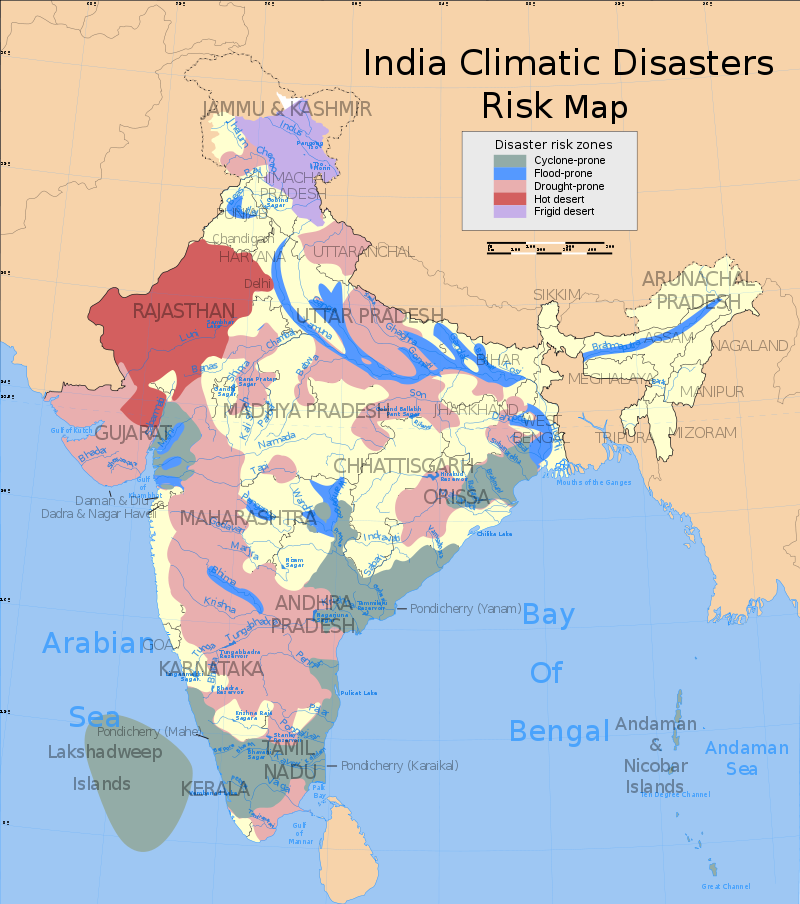 Disaster Management - Disaster Zones in India
