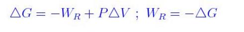 Gibbs Free energy Formula