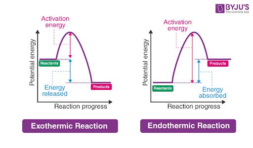 Energy Level Diagram of an Endothermic Reaction