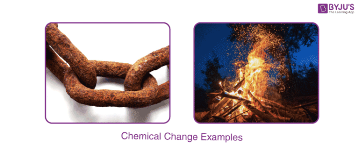 Chemical Change Examples