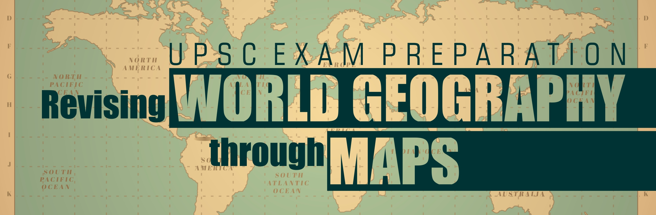 World map- link to Geography through maps revsion