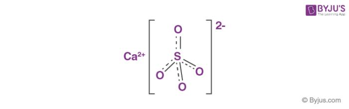 Calcium Sulfate Structure