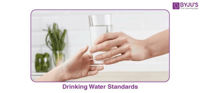 Drinking water standards