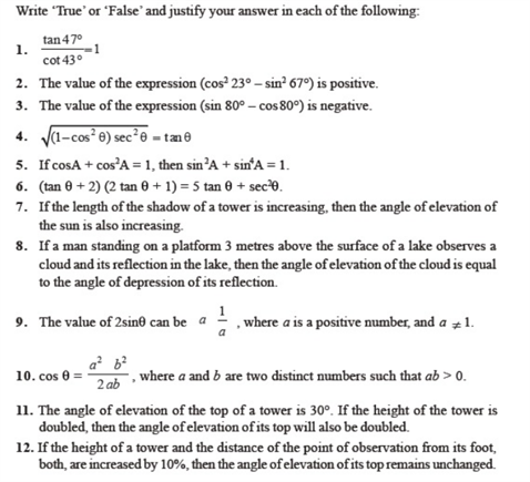 Important questions for class 10 maths chapter 8 Introduction to