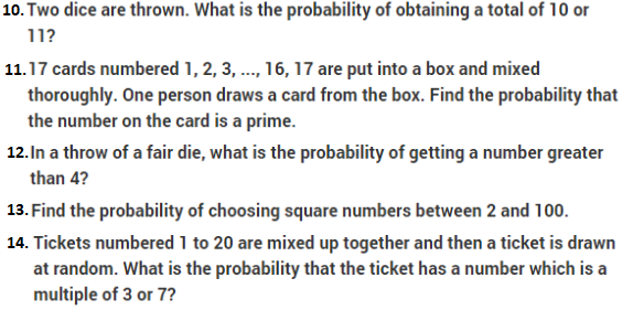Important Questions Class 10 Maths Chapter 15 Probability- Part 2