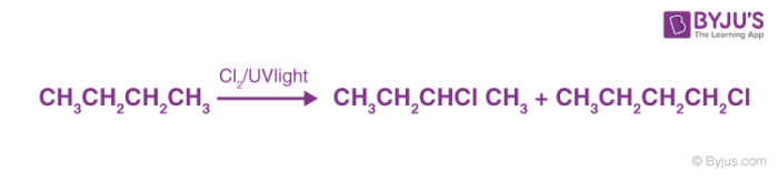 Preparation of Alkyl Halides via Free Radical Halogenation