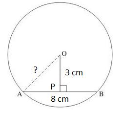 Radius of a circle Example 2
