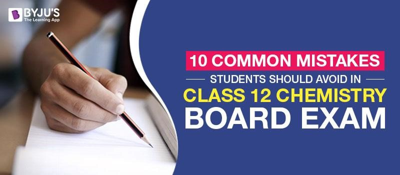 Common Mistakes Students should avoid