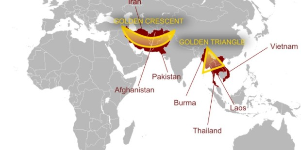 Colombo Declaration - Routes of the Golden Triangle and Golden Crescent