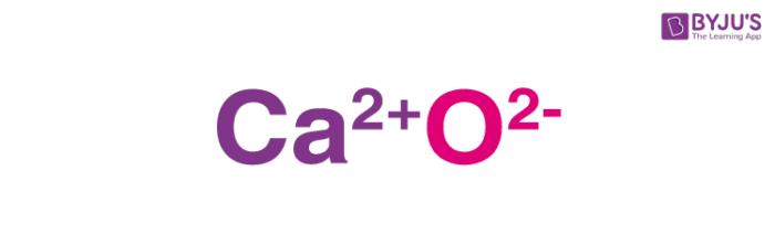 Calcium Oxide Structure