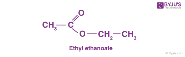 Structure of Ethyl Ethanoate