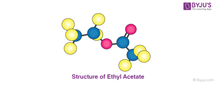 Structure of Ethyl Acetate