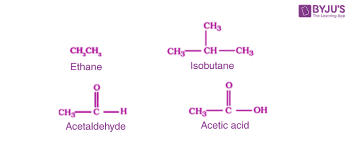 Examples of Acyclic or open chain compounds