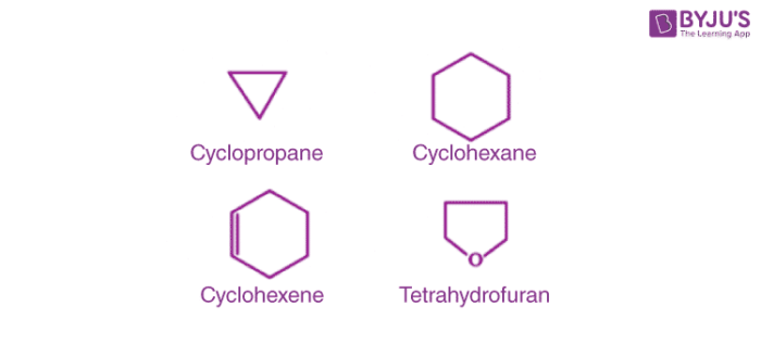 Examples of Alicyclic or closed chain or ring compounds