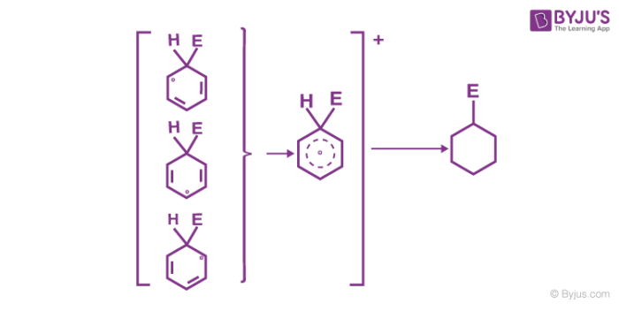 Removal of positive charge from the carbocation intermediate