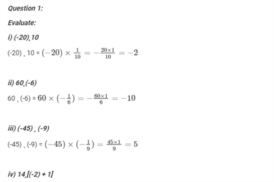 NCERT Solutions for Class 7 Maths Chapter 1 Application of