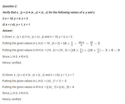 NCERT Solutions for Class 7 Maths Chapter 1 Application of Integers