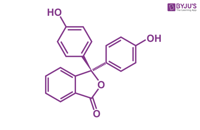 Phenolphthalein Structure - C20H14O4