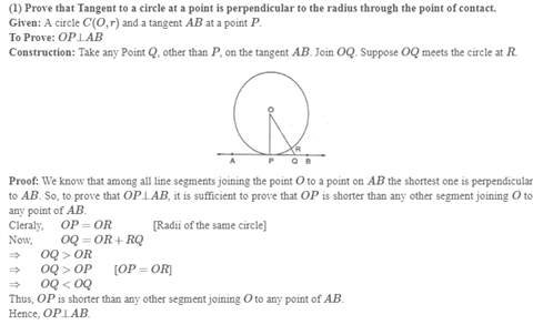 Class 10 Maths Chapter 10 - Circles