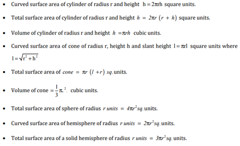 Class 10 Maths Chapter 13 - surface areas and volumes