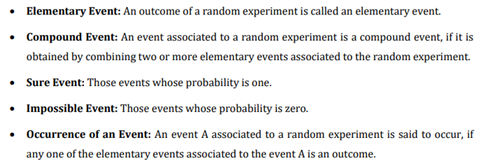 Class 10 Maths Chapter 15 - Probability