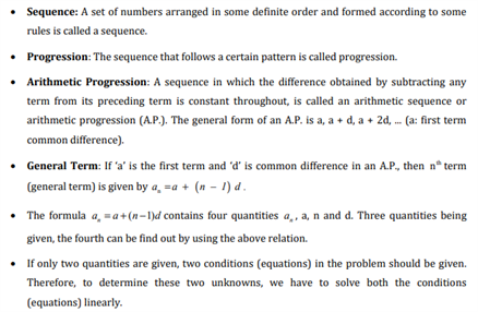 Class 10 Maths Chapter 5 Arithmetic Progressions