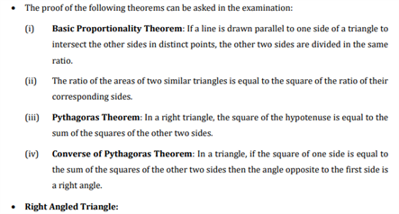 Class 10 Maths Chapter 6 - triangles