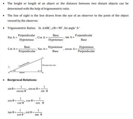 Class 10 Maths Chapter 9 - applications of trigonometry