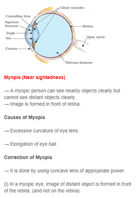 Class 10 Science Chapter 11 - The Human Eye and the Colourful World