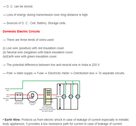 Class 10 Revision Notes Science Chapter 13 Magnetic Effect Of Electric Current