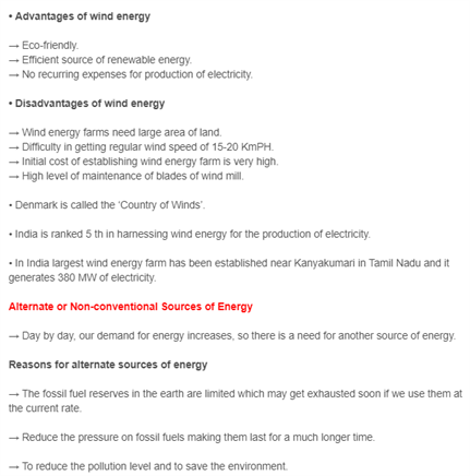 Class 10 Science Chapter 14 - Sources of Energy