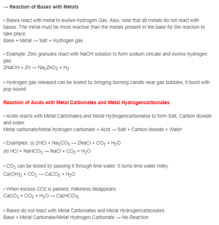 Class 10 Science Chapter-2 Acids, Bases and Salts
