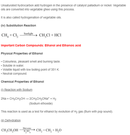 Class 10 Science Chapter 4 - Carbon and its Compound
