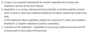 Class 11 Biology Chapter 14 - Respiration in Plants