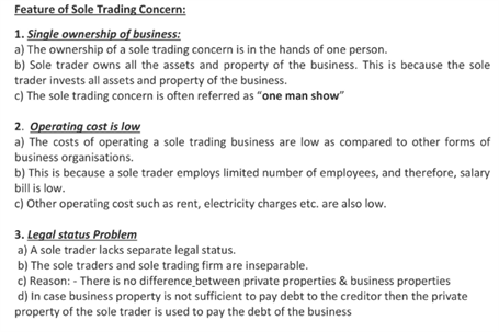 Class 11 Business Studies Chapter 2 - Forms Of Business Organisation