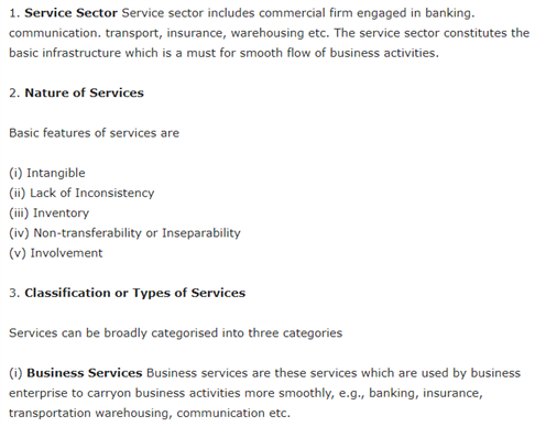 Class 11 Business Studies Chapter 4 - Business Services