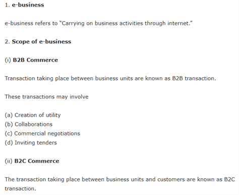 Class 11 Business Studies Chapter 5 Emerging Modes Of Business