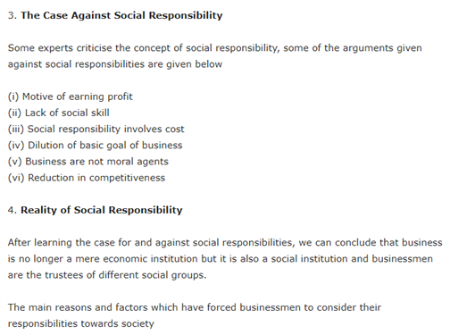 Class 11 Business Studies Chapter 6 Social Responsibilities Of Business And Business Ethics