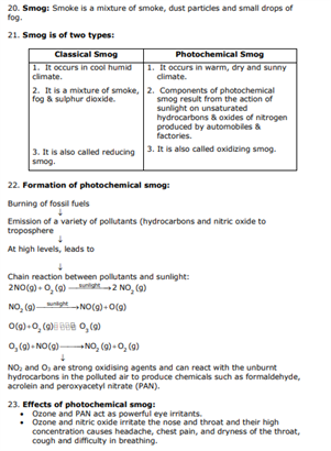 Class 11 Chemistry Chapter 14 - Environmental Chemistry