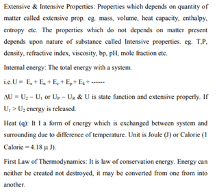 Class 11 Chemistry Chapter 6 - Thermodynamics