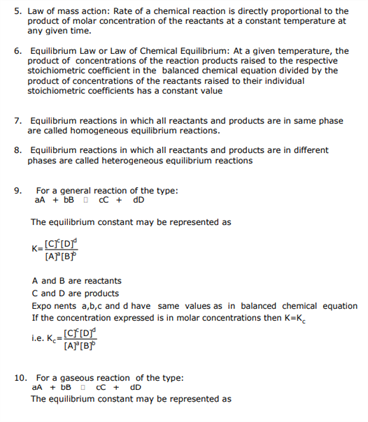 Class 11 Chemistry Chapter 7 - Equilibrium