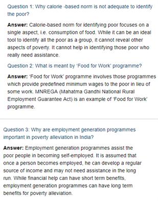 Class 11 Economics Chapter 4 : Poverty