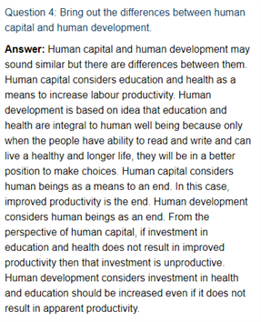 Class 11 Economics Chapter 5 : Human Capital Formation In India
