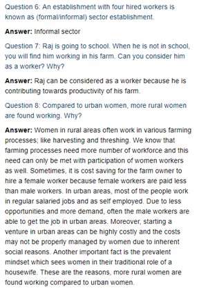 Class 11 Economics Chapter 7 : Employment : Growth, Informalisation And Other Issues
