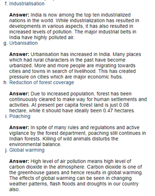 Class 11 Economics Chapter 9 : Environment And Sustainable Development