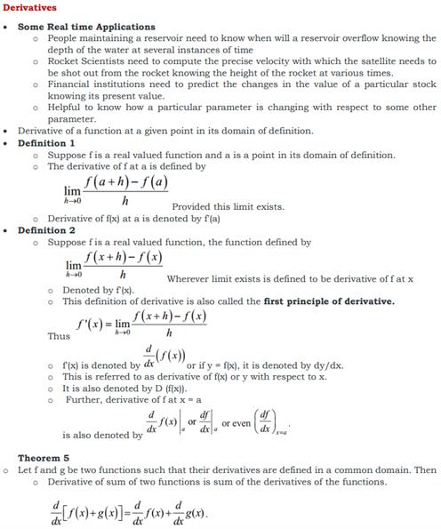 Class 11 Maths Chapter 13 Limits and Derivatives