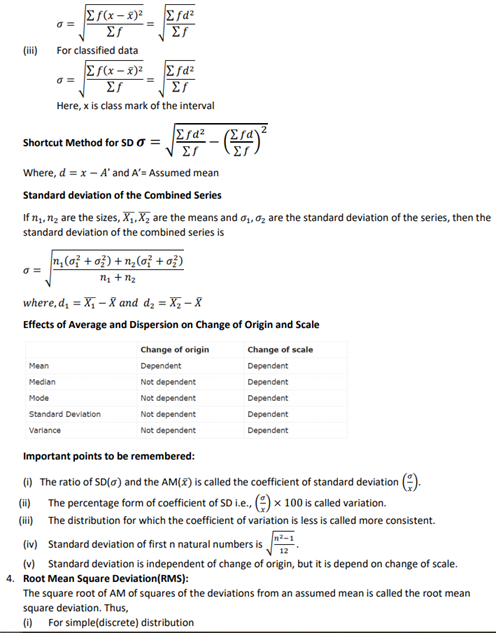Class 11 Maths Chapter 15 statistics